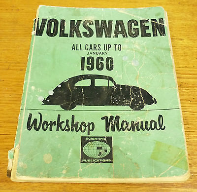 Volkswagen workshop manual all cars up to 1960