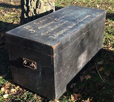 Antique Vintage Tool Chest Work Box Painted