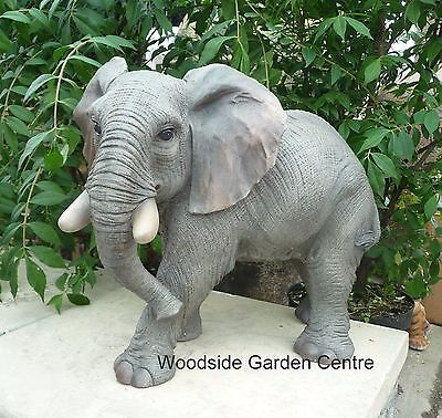 Resin Large Elephant Wild Safari Animal Vivid Arts Garden Ornament