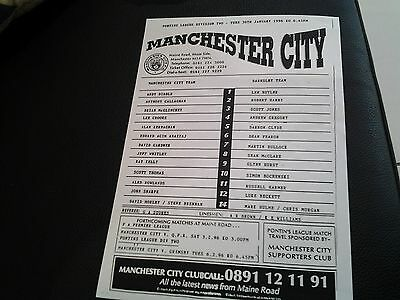 manchester city v barnsley 95.96 reserves lge