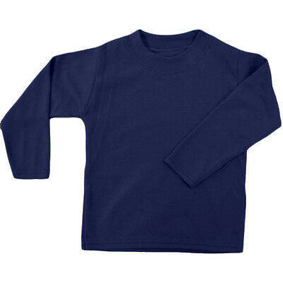 Navy Unbranded Baby Long Sleeve T-Shirt 1-2y
