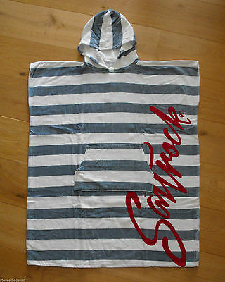 Saltrock Surf Ladies Beach Towelling Changing Robe Striped NEW surfers swimming