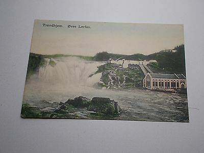 Antique Rpp Postcard Norway Trondhjem Ovre Lerfos Early 1900's