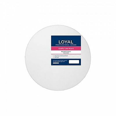 "Loyal White Round 23cm / 9"" Cake Board"