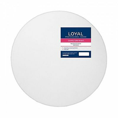 "Loyal White Round 33cm / 13"" Cake Board"