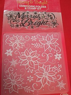 Merry & Bright Embossing Folder & Stamp Set