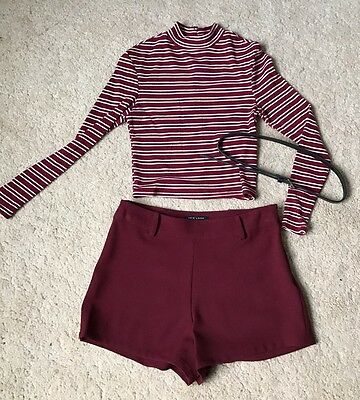 Girls New Look Shorts And Crop Top Set Age 10-12years