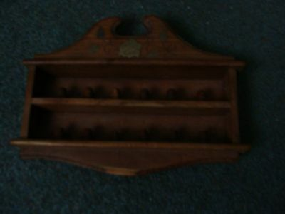Thimble Rack With Brass Inlay Holds 12 Thimbles
