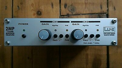 Line Audio 2MP 2 Channel Microphone Preamplifier High Quality Phantom Power