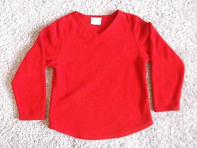 Girl's Next Long-Sleeved V-Neck Fleece Top in Red  Age 6 Years  VGC
