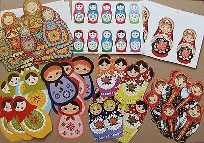 Russian Doll Babushka Scrapbooking Paper Pack 100+ pieces