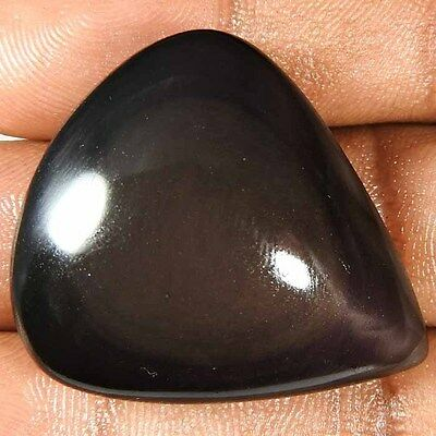 62.5Cts. 100% NATURAL EYE DESIGNER RAINBOW OBSIDIAN  PEAR CABOCHON GEMSTONES……..