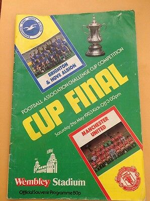 F A Cup Final Programme 21 May 1983 Brighton v Manchester United