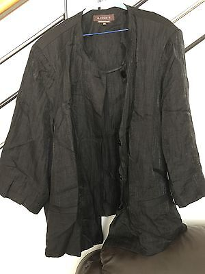 Maggie T Woman's Shimmer Black Jacket Size 24