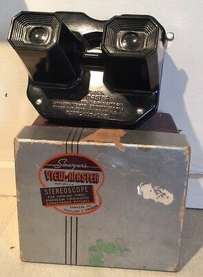 Vintage 1950s Sawyers Viewmaster View Master Model C Boxed Retro Bakelite Toy