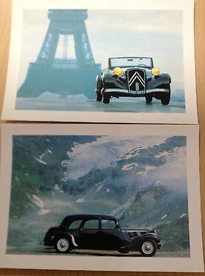 Citroen Fifty years of Front Wheel Drive - 2 Postcards