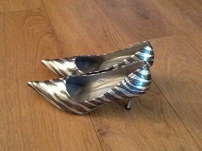 PARTY SHOES SILVER AND GREY SIZE 6.5 Never Worn
