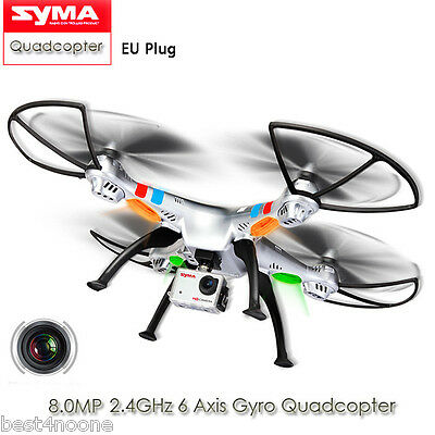 SYMA X8G RC Quadcopter Headless Mode 2.4GHz 6 Axis Gyro Camera 3D Roll Stumbling