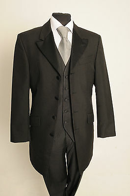 Mj-136 Mens Formal Single Breasted Long Length Prince Ed Evening Dinner Jacket
