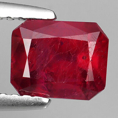 1.88 Ct E Bay Fabulous Pigeon Red Natural Ruby Emerald Cut Loose Gemstones