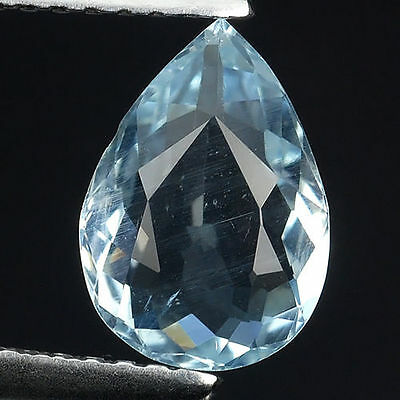1.45 Ct ! Awesome ! Santa Maria Natural Aquamarine Pear Cut Loose Gemstones