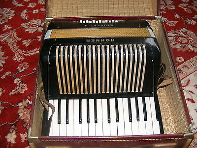Vintage Hohner Student II Piano Accordion In Hard Case