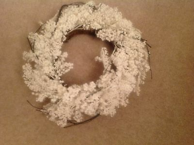 Brand New White Polystyrene Christmas Wreath