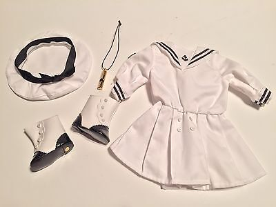 American Girl Samantha Middy Outfit High Button Shoes Tam Whistle Retired 1989