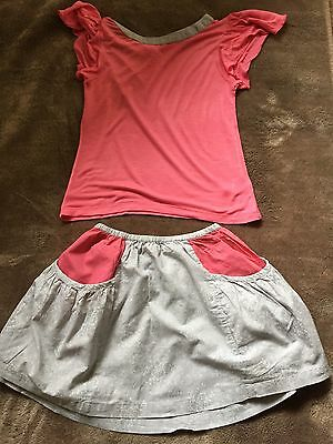 Girls Used I Love Gorgeous 2 Piece Top & Skirt Set Age 10-11 Yrs