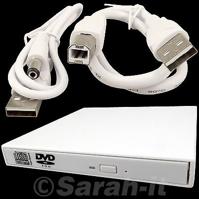 External USB 2.0 CD DVD Rom Reader RW Writer Combo Drive For PC Computer Laptop