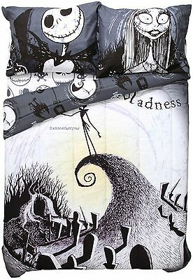 Nightmare Before Christmas Moonlight Madness Full/Queen Comforter & Pillowcases