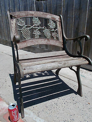 Old Cast Iron Garden Chair Outdoor Seat Chair (Restore/project)