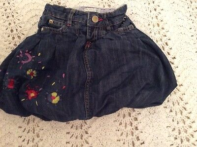 Girls little john rocha denim skirt 18-24 mths