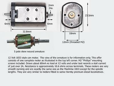 O gauge motor also suitable for large OO diesel repower 1833 can motor