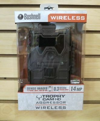 New 2016 Bushnell Trophy Cam HD Aggressor Wireless Scouting Camera 119599C2
