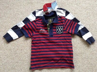 Joules Boys Polo shirt & Rugby Shirt set age 3/4yrs