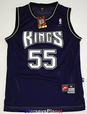 NWT Throwback Hardwood Jersey JASON WILLIAMS 55 Sacramento Kings Purple Men