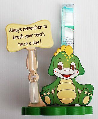 Dragon Toothbrush Holder with Toothbrush & Timer - Italian - Handcrafted