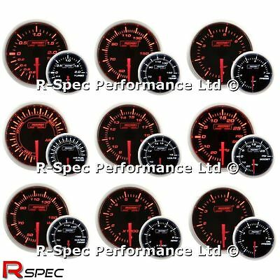 ANY 3 GAUGE OFFER - New 52mm Prosport  Amber / White Turbo Boost Oil Water Temp