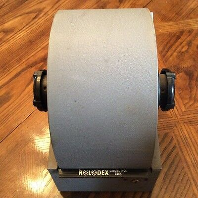 Vintage Gray Steel Rolodex Model # 2254 Metal Covered Rotary Card File