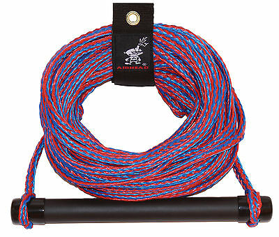 Airhead 1 Section 75' Waterski Wakeboard rope/ floating handle c/w rope tidy