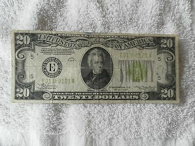 1934 Twenty Dollar Star Federal Reserve Note -  E series, Richmond Virginia
