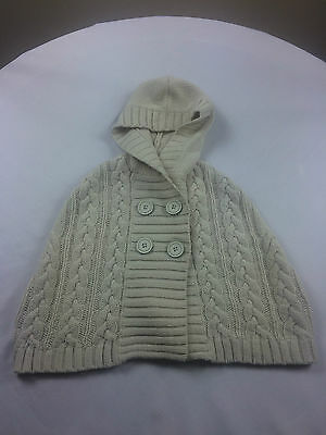 Next Girl's Woolen Cape/Cardigan with Hood  - Beige - Age 3/4 years