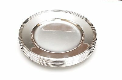 """Set of 8 INTERNATIONAL STERLING Silver """"Lord Saybrook"""" H413-9 Bread Plates 6"""""""