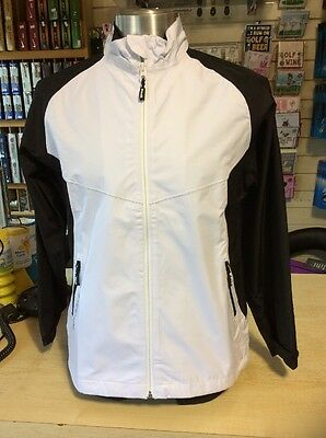 Ping Moon dance Ladies Waterproof Jacket White & Black Size 10