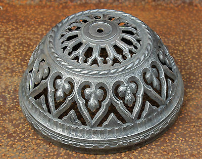 Antique Ceiling Canopy Silver Plated Cast Iron
