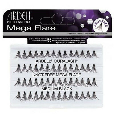 Ardell Mega Flare Schwarz Individual Wimpern Knot Free All Sizes Available