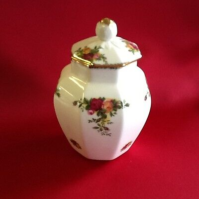 old country rose tall trinket pot with lid
