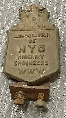 Vintage Bronze? State of New York NYS Bridge Highway Engineers  Road Marker Sign