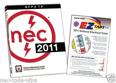 2011 NEC National Electrical Code and EZ Tabs + Ohms law sticker ***new